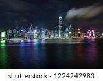 hongkong city skyline  vitoria... | Shutterstock . vector #1224242983