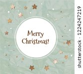 christmas card with stars  | Shutterstock . vector #1224247219