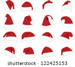 hat of santa claus on white... | Shutterstock .eps vector #122425153