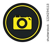 photographic camera isolated... | Shutterstock .eps vector #1224254113