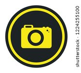 photographic camera isolated... | Shutterstock .eps vector #1224255100
