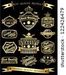 golden retro vintage premium...   Shutterstock .eps vector #122426479