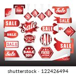 red sale labels set | Shutterstock .eps vector #122426494