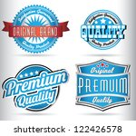 blue quality labels | Shutterstock .eps vector #122426578