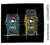 ancient camera   sketchbook... | Shutterstock .eps vector #122426893