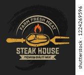 vintage barbecue restaurant... | Shutterstock .eps vector #1224269596