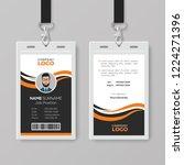 creative modern id card... | Shutterstock .eps vector #1224271396
