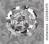 indonesia written on a grey... | Shutterstock .eps vector #1224281470