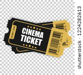 realistic cinema ticket icon in ... | Shutterstock .eps vector #1224282613