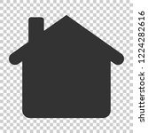 house building icon in flat... | Shutterstock .eps vector #1224282616