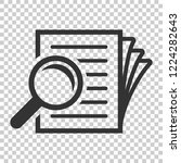 scrutiny document plan icon in... | Shutterstock .eps vector #1224282643