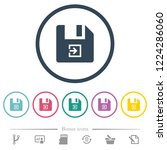 import file flat color icons in ... | Shutterstock .eps vector #1224286060