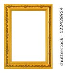 gold picture frame isolate on... | Shutterstock . vector #122428924