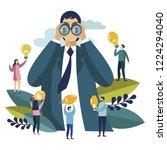 businessman looking for money... | Shutterstock . vector #1224294040