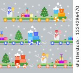 seamless pattern with christmas ... | Shutterstock .eps vector #1224296470