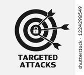 targeted attacks threat logo... | Shutterstock .eps vector #1224298549