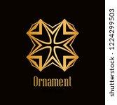 retro style logo design  luxury ... | Shutterstock .eps vector #1224299503
