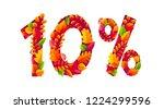 autumn sale 10  off discount...   Shutterstock . vector #1224299596