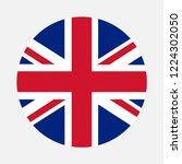 united kingdom flag circle ... | Shutterstock .eps vector #1224302050