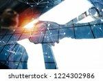 handshaking business person in... | Shutterstock . vector #1224302986