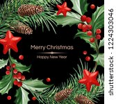 frame with text and christmas... | Shutterstock .eps vector #1224303046