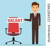 vacancy  a businessman shows up ... | Shutterstock .eps vector #1224307483
