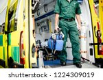 paramedics at work with an... | Shutterstock . vector #1224309019