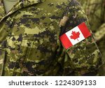 canadian troops. canadian army. ... | Shutterstock . vector #1224309133