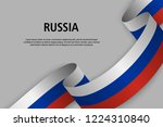 waving ribbon with flag of...   Shutterstock .eps vector #1224310840