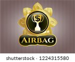 gold emblem or badge with... | Shutterstock .eps vector #1224315580