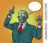 emotional speaker robot ... | Shutterstock .eps vector #1224317140