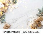 christmas handmade gift boxes... | Shutterstock . vector #1224319633