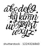 vector alphabet. lettering and... | Shutterstock .eps vector #1224326860