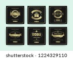 christmas sale web banners for... | Shutterstock .eps vector #1224329110