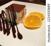 tiramisu cake with chocolate... | Shutterstock . vector #1224333889