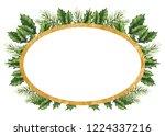 card template with golden frame ... | Shutterstock . vector #1224337216