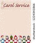 christmas carol service poster...   Shutterstock .eps vector #1224341866