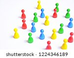 differently colored game... | Shutterstock . vector #1224346189