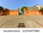 tha phae gate  tourist... | Shutterstock . vector #1224347080