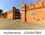 tha phae gate  tourist... | Shutterstock . vector #1224347083