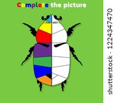 complete the picture. ... | Shutterstock .eps vector #1224347470