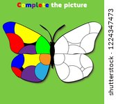 complete the picture. ... | Shutterstock .eps vector #1224347473