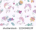 seamless pattern with stylized... | Shutterstock .eps vector #1224348139