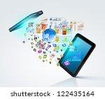 modern communication technology ... | Shutterstock . vector #122435164