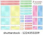 long basic speech bubbles of... | Shutterstock .eps vector #1224353209