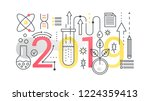 science 2019 word trendy... | Shutterstock .eps vector #1224359413