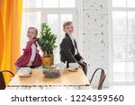 cute young brother and sister...   Shutterstock . vector #1224359560