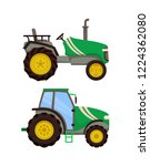tractor icons set machinery... | Shutterstock .eps vector #1224362080
