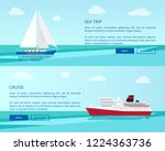 sea trip on sailboat and... | Shutterstock .eps vector #1224363736
