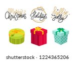merry christmas  holly jolly... | Shutterstock .eps vector #1224365206